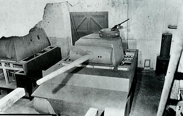 Maquette du VK 36.01 (H) dans les usines d'Henschel