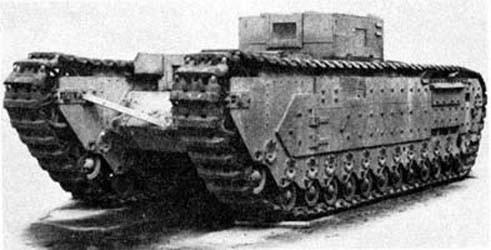 Première ébauche du projet d'Infantry Tank A20