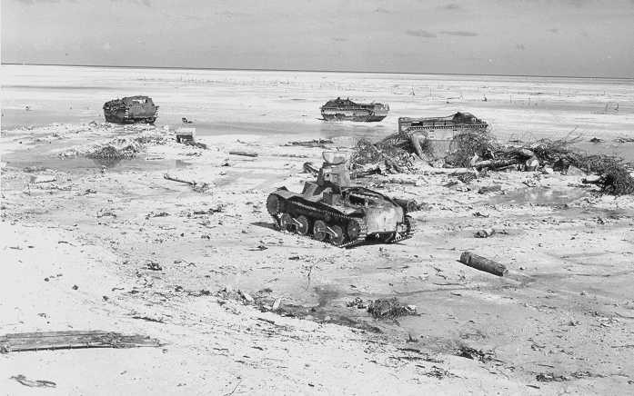 Bien qu'inférieur aux Sherman, le Ha-Go est tout à fait capable de détruire les blindés amphibies LVT
