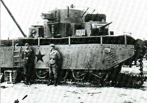Le char T-35 soviétique, jugé obsolète en 1940 par l'Armée Rouge