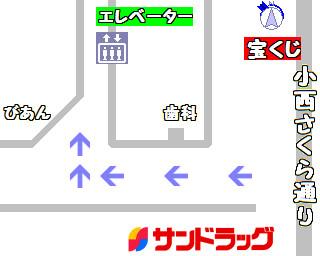 通路を右に曲がってエレベーターで5階へ