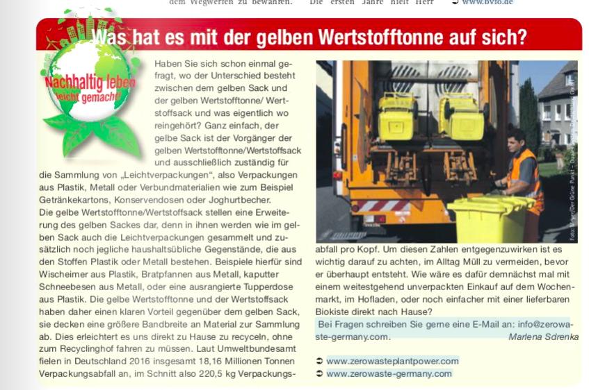 Nachhaltigkeitskolumne Zero Waste Germany Marlena Sdrenka