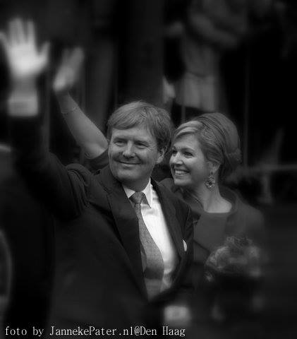 Koningspaar 2015 Bierkade de ooievaart. Einde event 200 jaar Koninkrijk der Nederlanden i.s.m Den Haag en 12 provincies.