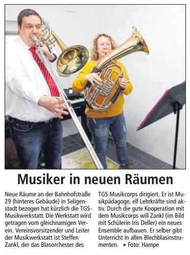 Musiker in neuen Räumen