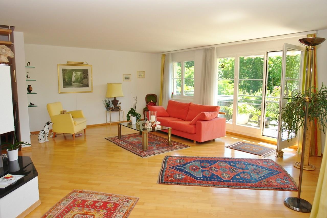 Im 46 m2 grossen, lichtdurchfluteten Wohn-/Essbereich …