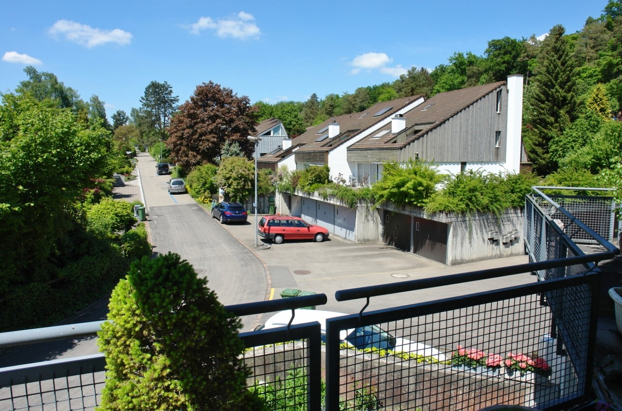 Blick vom Balkon vom Wohngeschoss Richtung Nordwesten