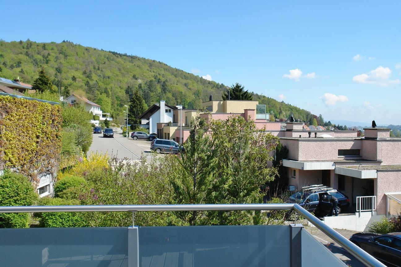 Herrlicher Blick vom Balkon Richtung Osten…