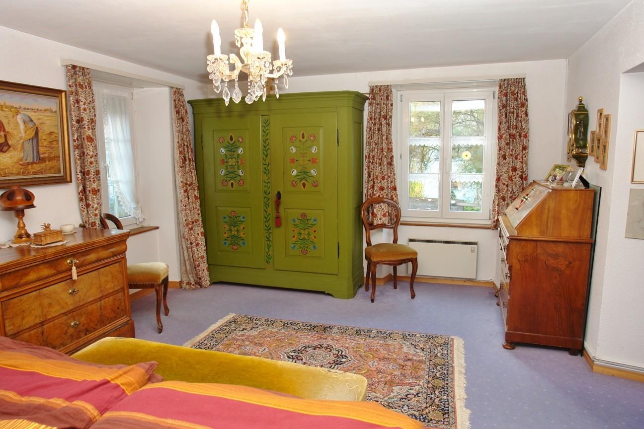 Fast 20 m2 grosses Schlafzimmer im Erdgeschoss
