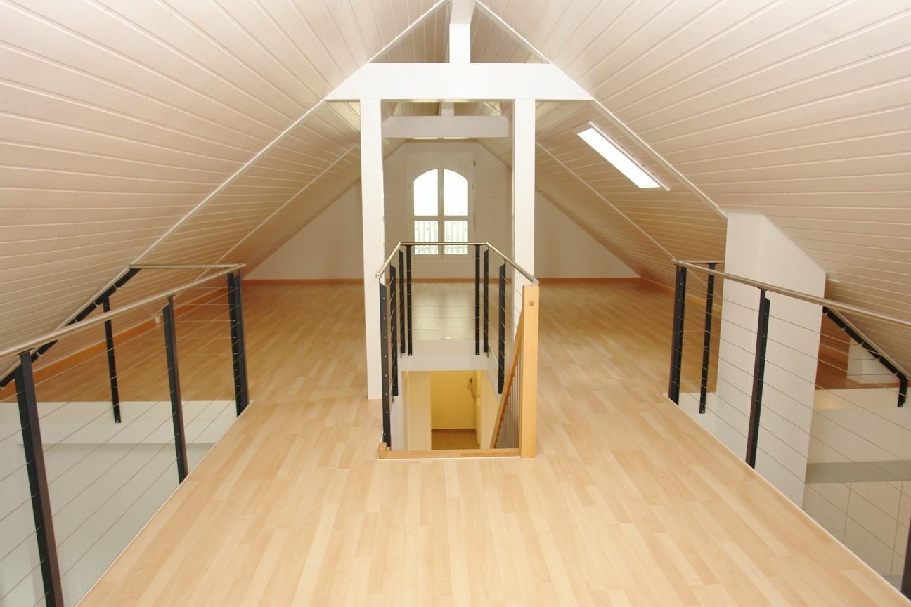 Spannender Raum: Im Galeriegeschoss
