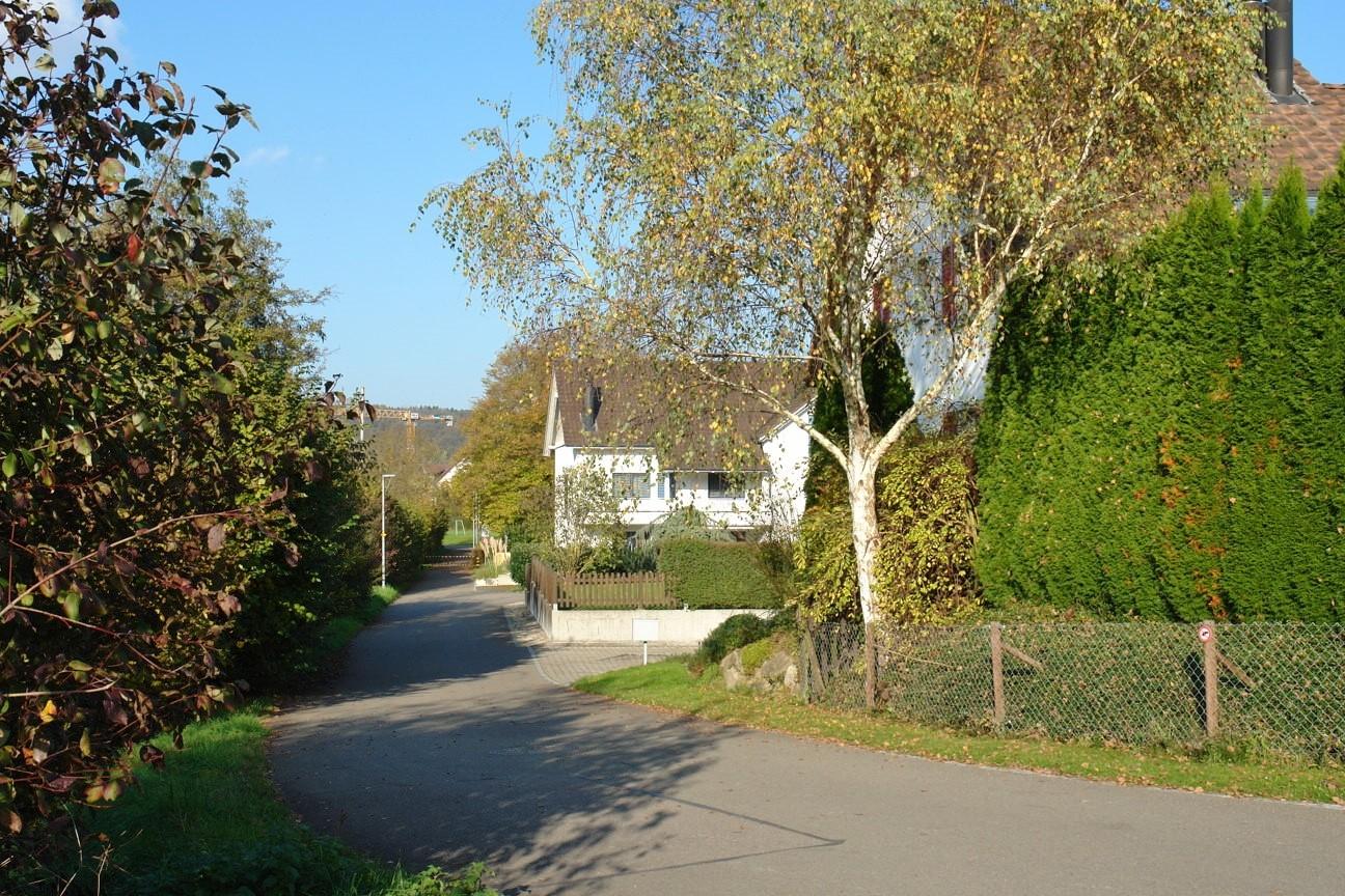 Zufahrt zum 4-Familienhaus