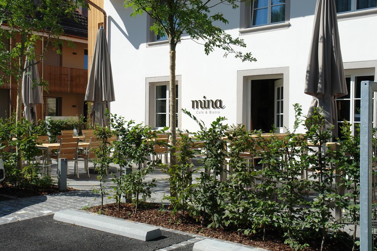 Das Leben geniessen: Das neu eröffnete, stilvolle Café & Bistro «mina» in direkter Nähe