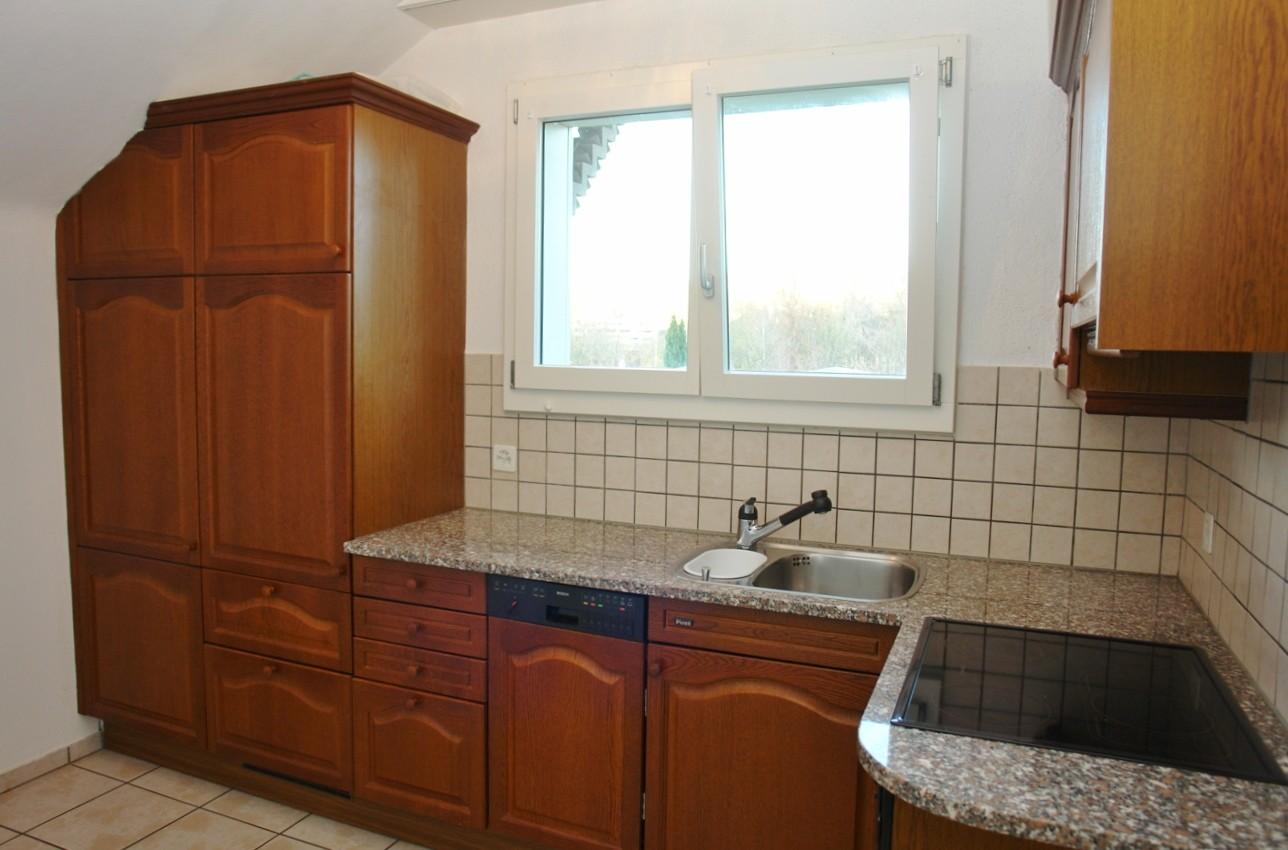 Küche der Wohnung im Obergeschoss