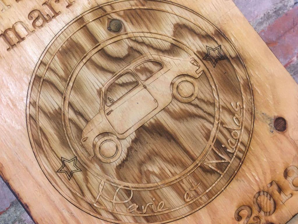 Panneau BIENVENUE en bois