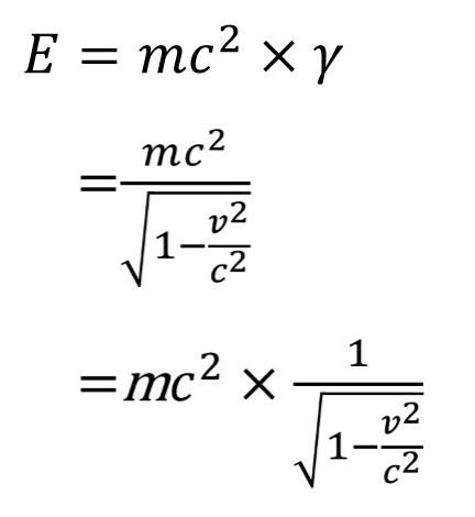 運動エネルギーを足した正式なE=mc^2の方程式