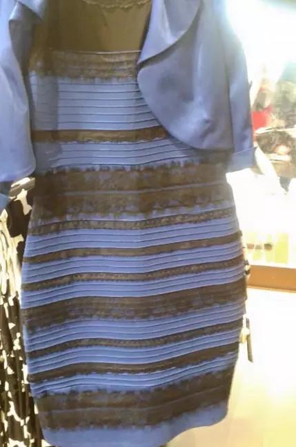 見る人によって色の変わるドレス