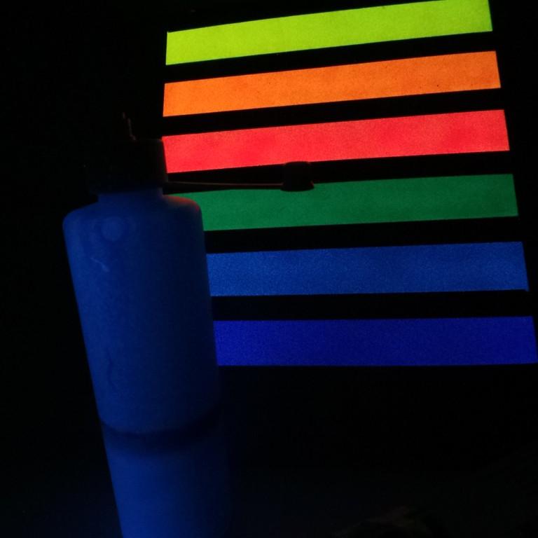 Nachtleucht Farbe Blau Mischen