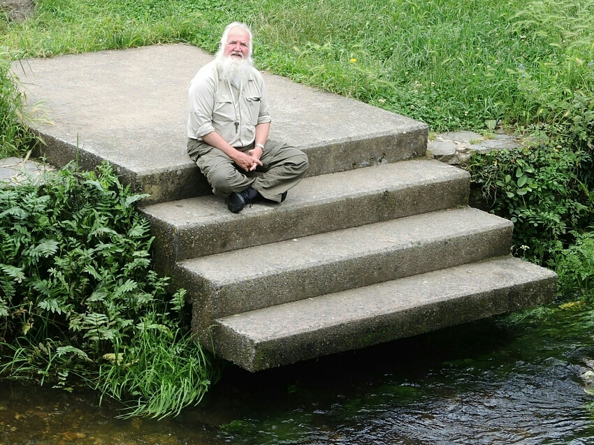 Ein erfahrener Pilger aus Virginia USA. Er hat schon sogar denn Appalachian Trail gelaufen.