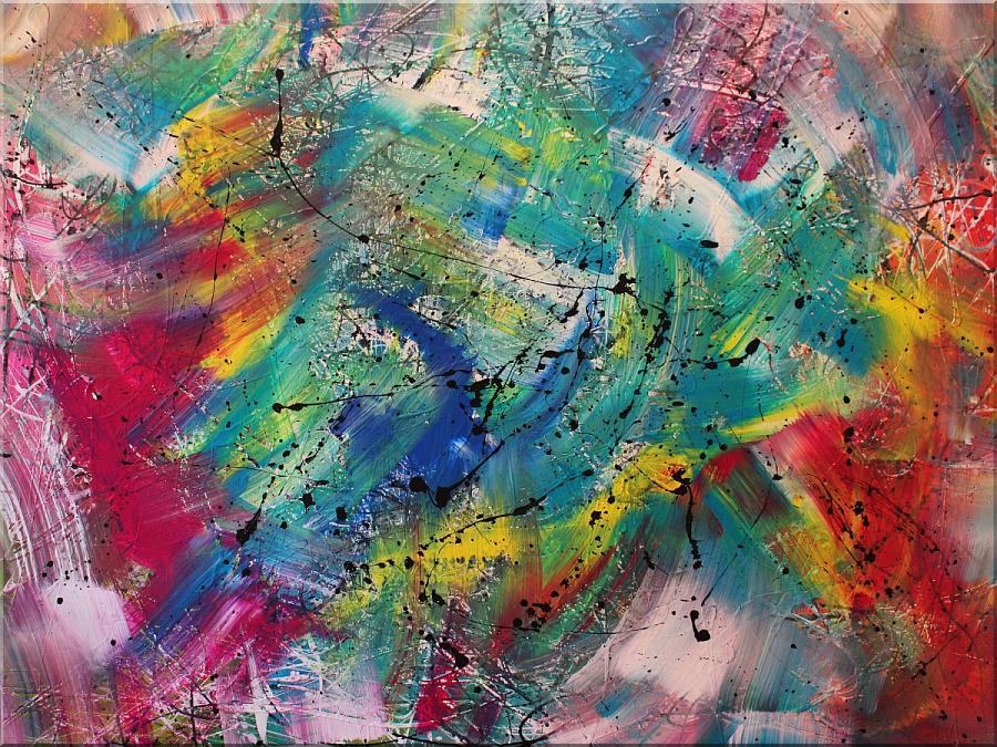 abstraktes Wandbild XXL-sehr modern-Burk Art Bilder, Malerei