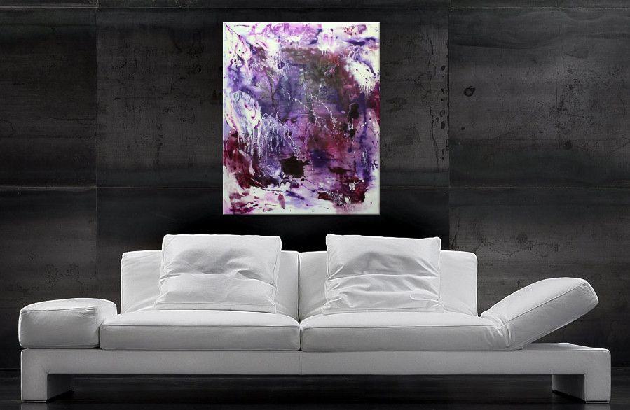 Acrylbilder kaufen - Violett und Weiss