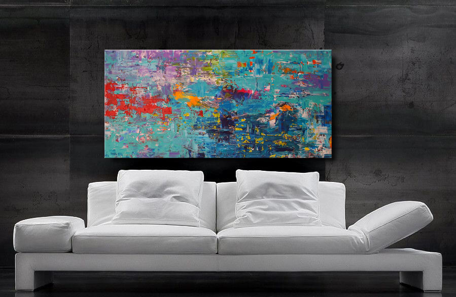 Acrylbilder kaufen, Acrylbild abstrakt, modern Art, modernes Acrylgemälde 120 x 60 cm, Unikat, Handgemalt