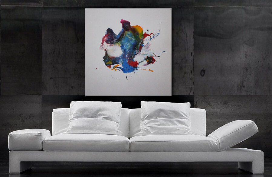 Acrylbilder kaufen, Acrylbild abstrakt, modern Art, modernes Acrylgemälde 100 x 100 cm, Unikat, Handgemalt, modern Art, Wandbilder XXL