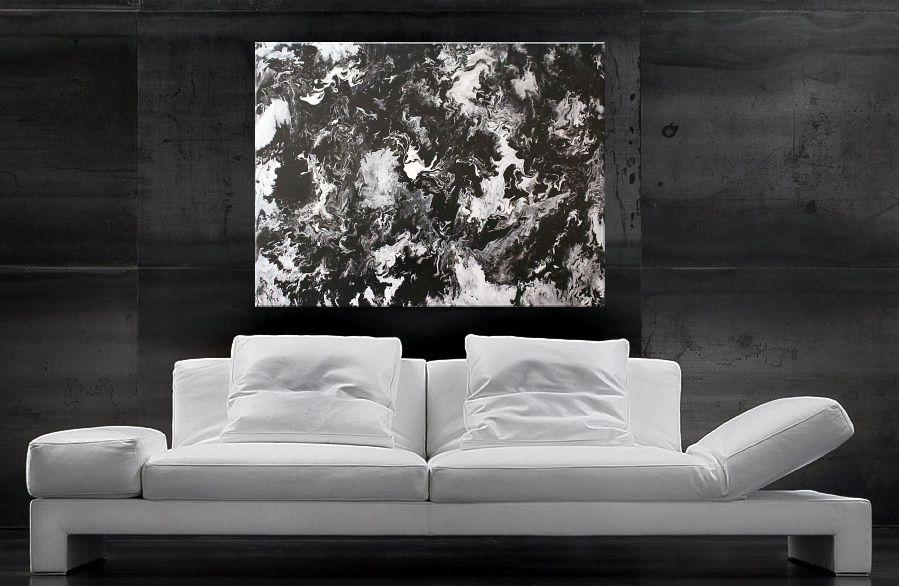 Schwarz-Weisse Farbverläufe - Acrylbilder kaufen