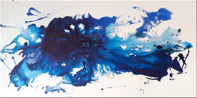 Burk Art Gemälde in blau.