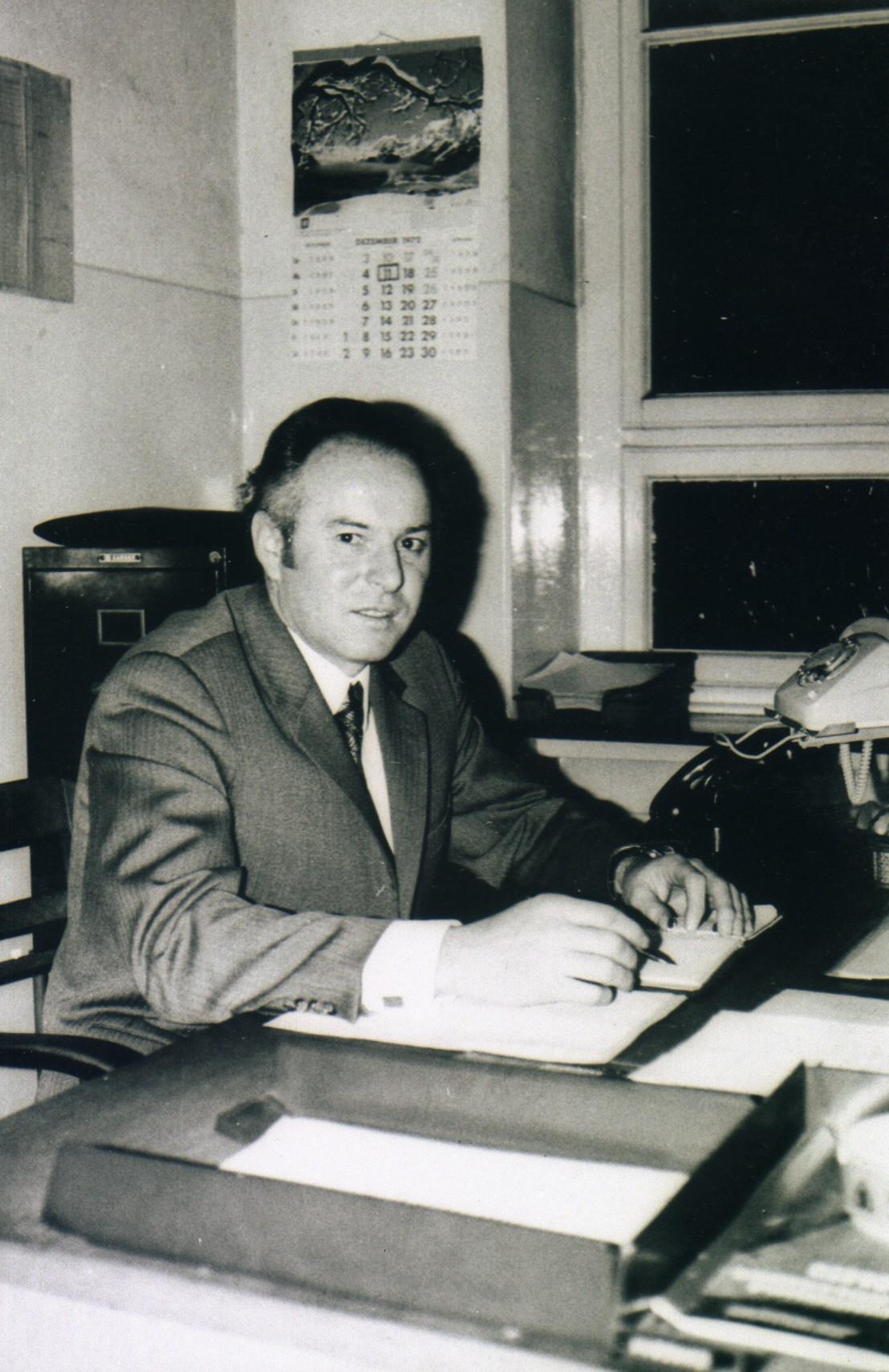 Elektro-Obersteiger Johannes Baumert