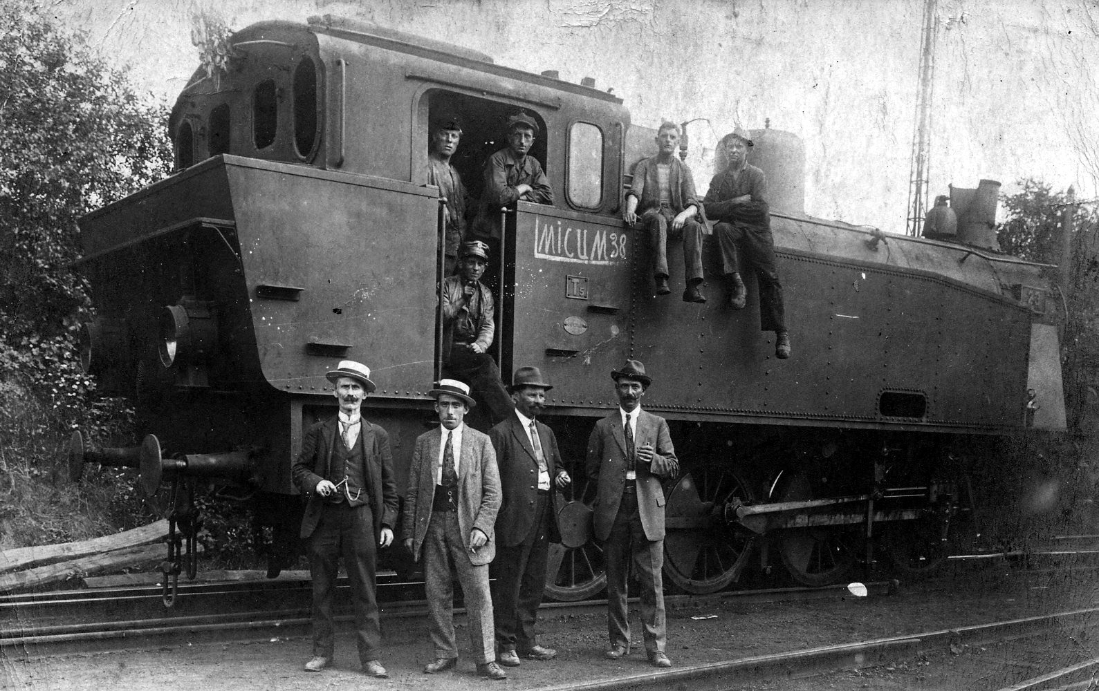 Zechenlokomotive Victor-Ickern beschlagnahmt von der französichen Besatzungsmacht-Ruhrbesetzung   1923