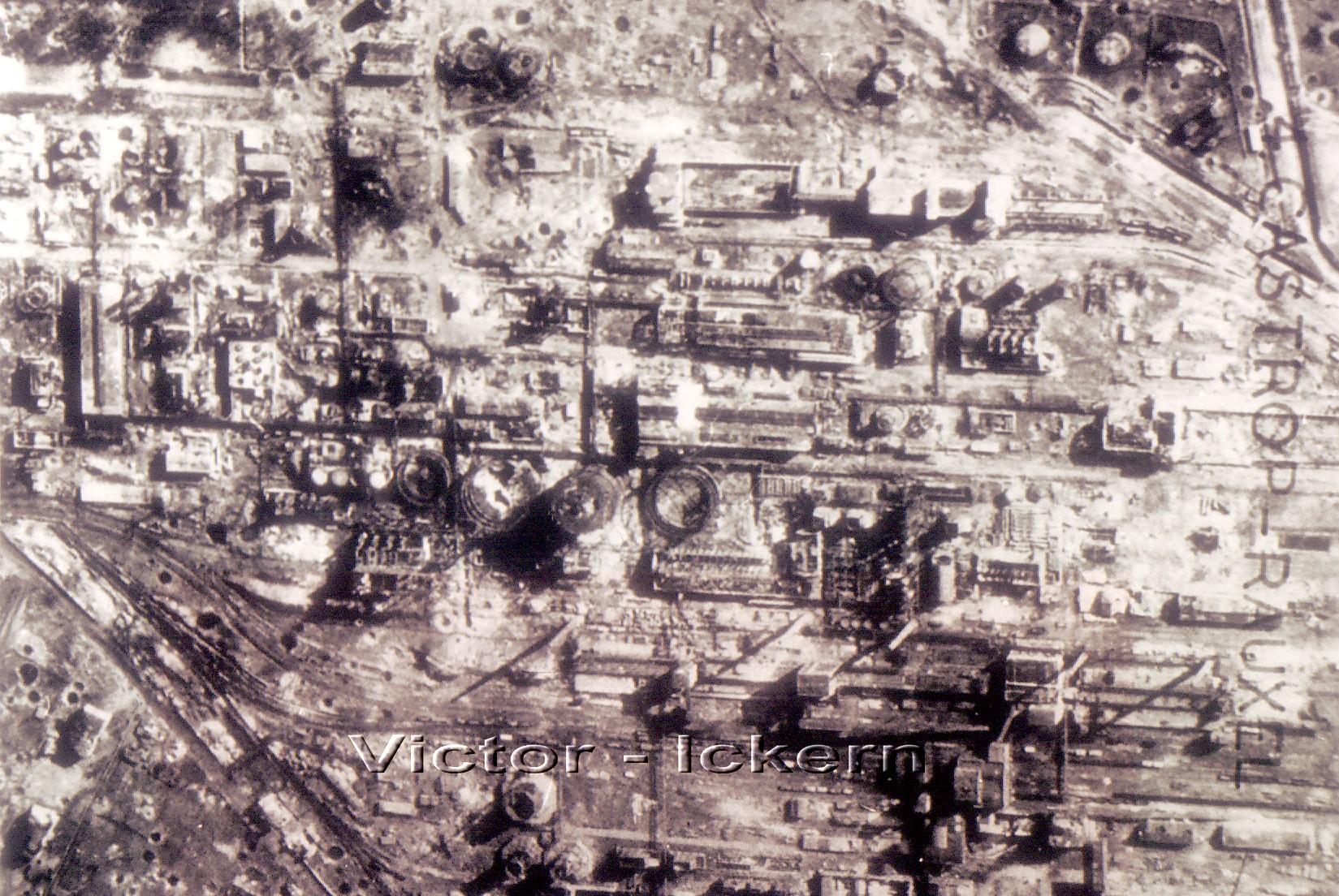 Ergebnis des Angriffs vom 21.11.1944 auf Victor III/IV und die Stickstoffwerke