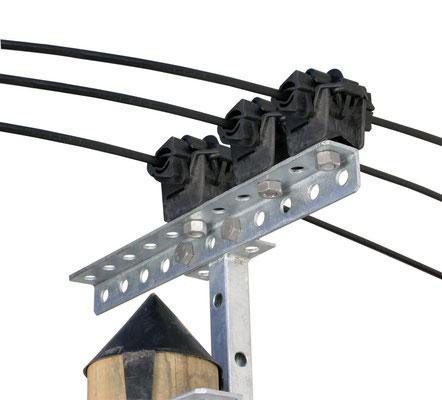 Pince de suspension PSR 8 20 ADSS montage traverse
