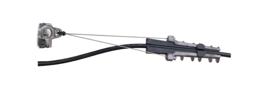 Pince d'ancrage pour FO PA120FO400TR avec câble porteur 10à12 mm