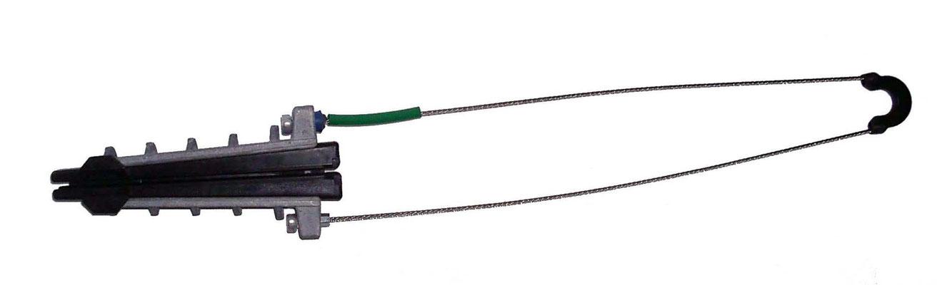 Pince d'ancrage pour FO PA100FO400TR avec câble porteur 7 à 10mm