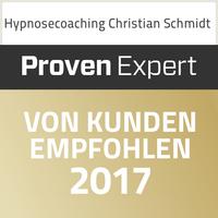 Hypnosecoaching Christian Schmidt - Von Kunden empfohlen 2017