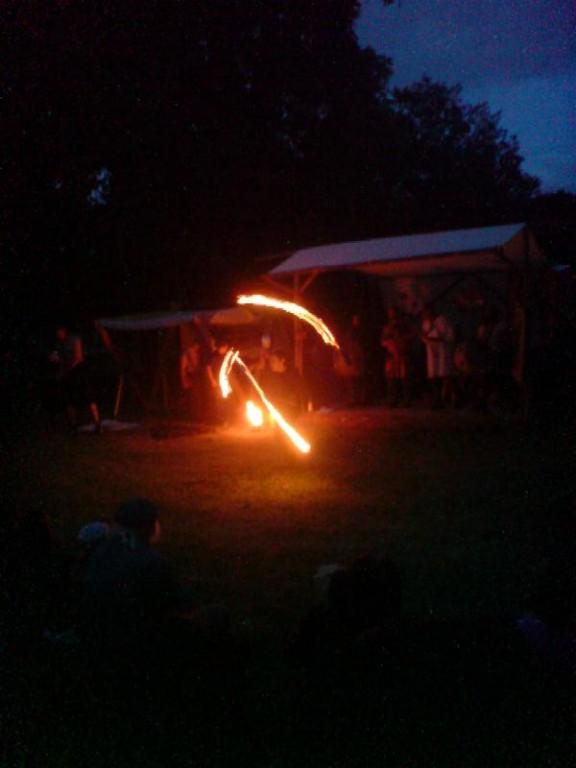 Abends gabs eine schöne Feuerdarbietung
