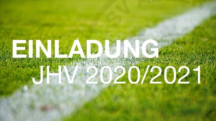 Einladung Jahreshauptversammlung 2020/2021