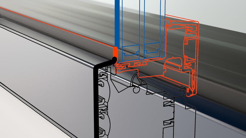 Nova Line: Rahmenüberdeckende Ganzglasoptik