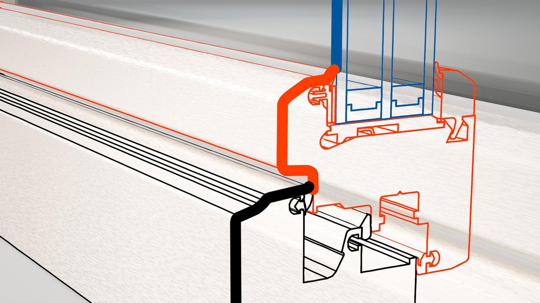 Classic line: Flächenversetzte, gestufte Rahmenansicht.