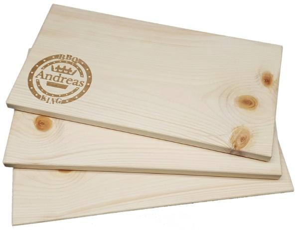 Räucherbrett Grillbret Planke zum Grillen mit Zirben Holz
