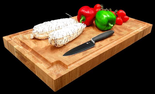 Stirnholz, Hirnholz Schneidebrett, Hackblock aus massiver Eiche, schont Ihre Küchenmesser!