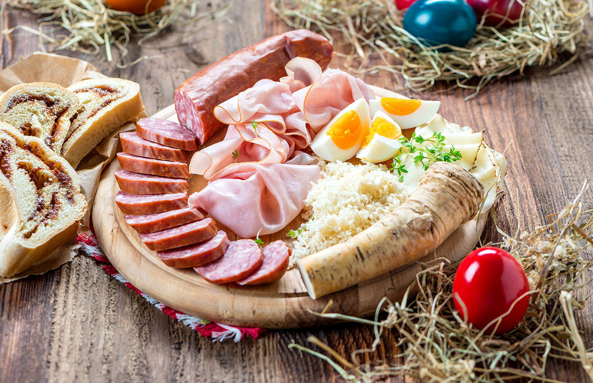 Osterei und Osterjause -  leckere Schmankerl, die es nur zu Ostern gibt