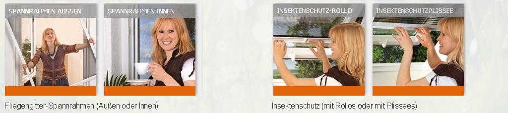 Bilder zu Fliegengitter-Spannrahmen (Außen / Innen) und Insektenschutz (mit Rollos oder mit Plissees
