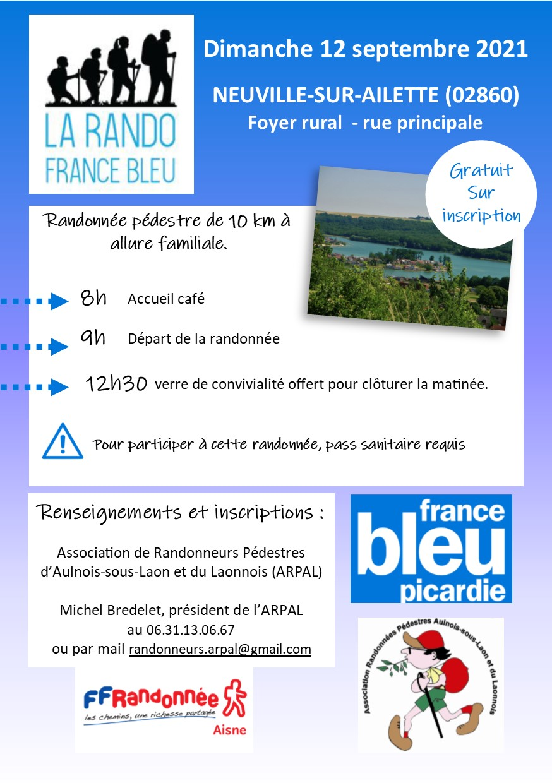 Rando France Bleu le 12 septembre 2021