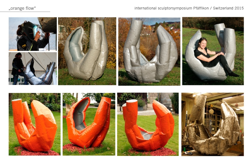 Flow Gartenobjekt Garten Skulptur metal Metall Katharina Mörth Skulptur Sculpture moderne Kunst
