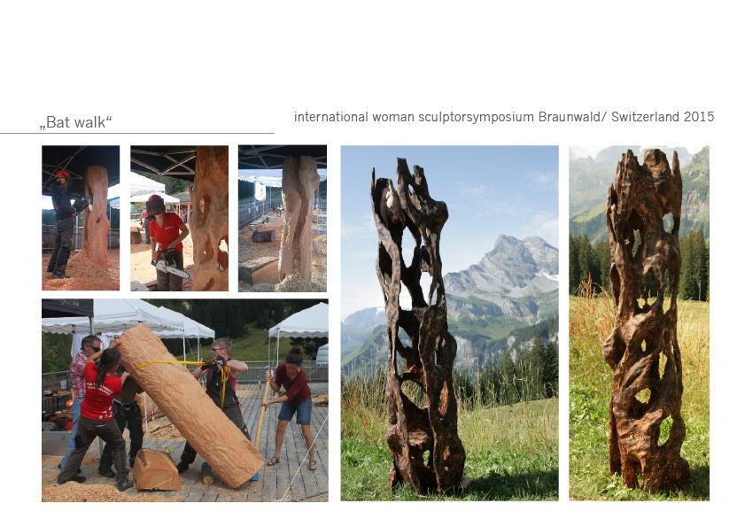 Fledermaus Holzskulptur Katharina Mörth Glarus Glanerland