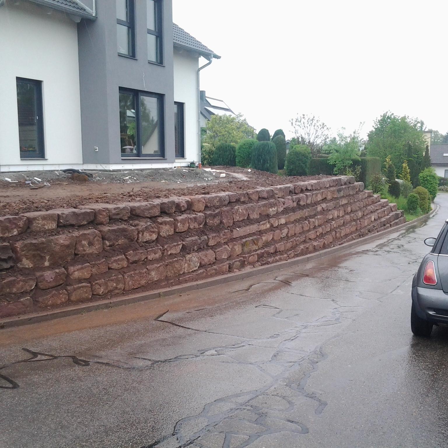 Natursteinarbeiten, Sandsteinmauerbau