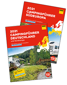 ADAC Campingführer Deutschland/Nordeuropa und Südeuropa 2021 eingetroffen