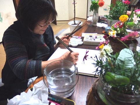 鎌倉彫青山工房 水彩画教室