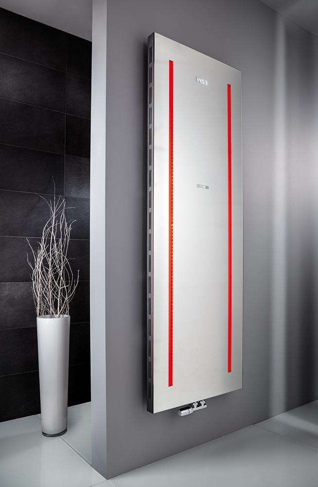 Atelier LED Designheizkörper in Standardfarbe weiß, Foto © HSK