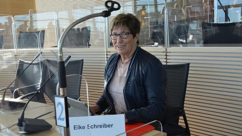So wie hier im Jahre 2020 wird Elke Schreiber auch 2021 im Altenparlament mitarbeiten